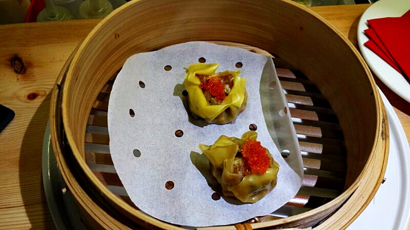 dumplings de setas y gambas