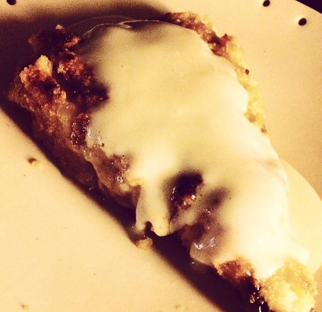 tarta de manzana asada