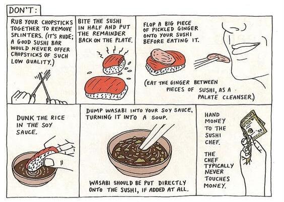 Comer sushi bien